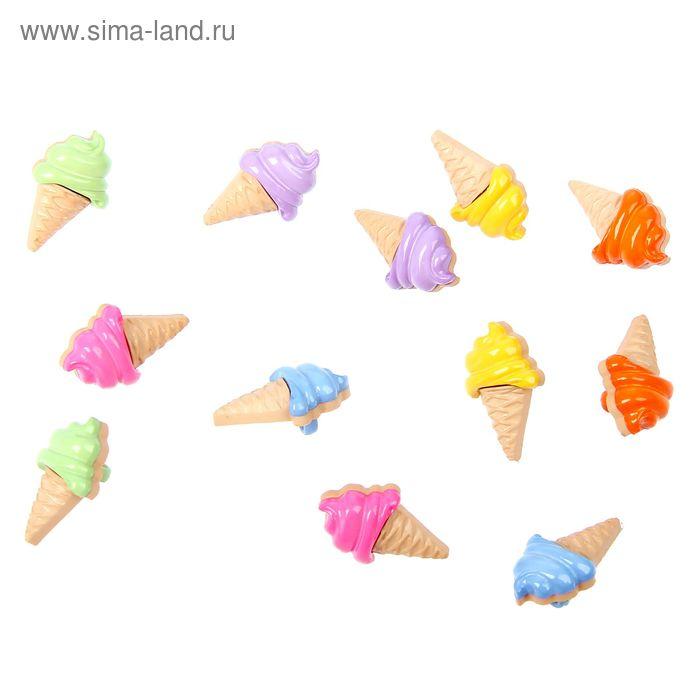 "Пуговицы ""Мороженое"", 12 шт."