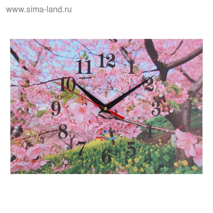 """Часы настенные прямоугольные """"Весеннее цветение"""", 25х35 см"""