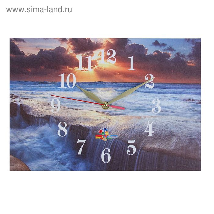 """Часы настенные прямоугольные """"Морские скалы"""", 25х35 см"""