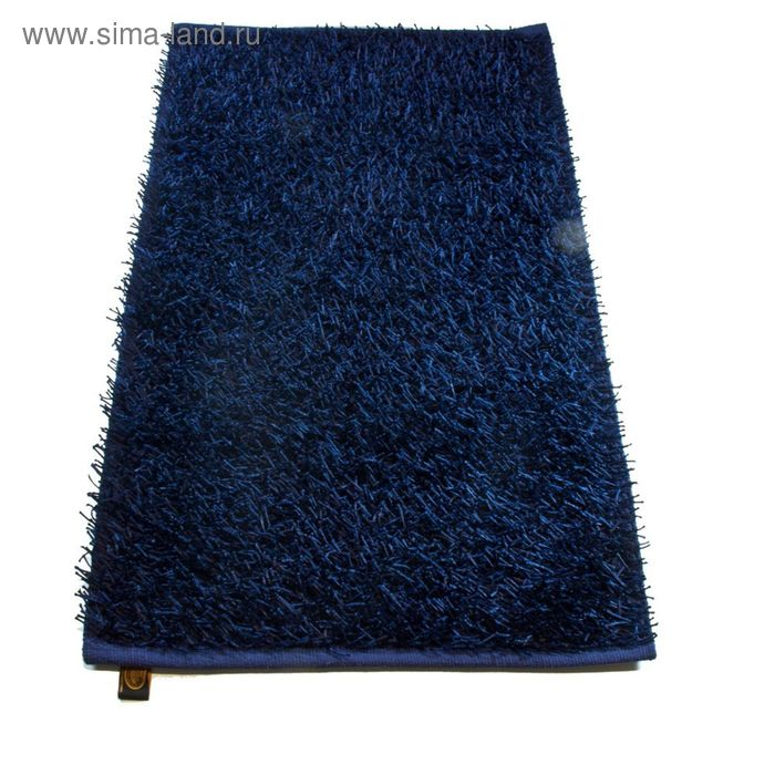 Коврик Langflor-Teppich in Metallic-Optik, размер 60х100 см, цвет синий