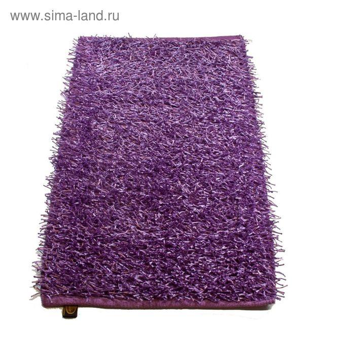 Коврик Langflor-Teppich in Metallic-Optik, размер 60х100 см, цвет фиолетовый