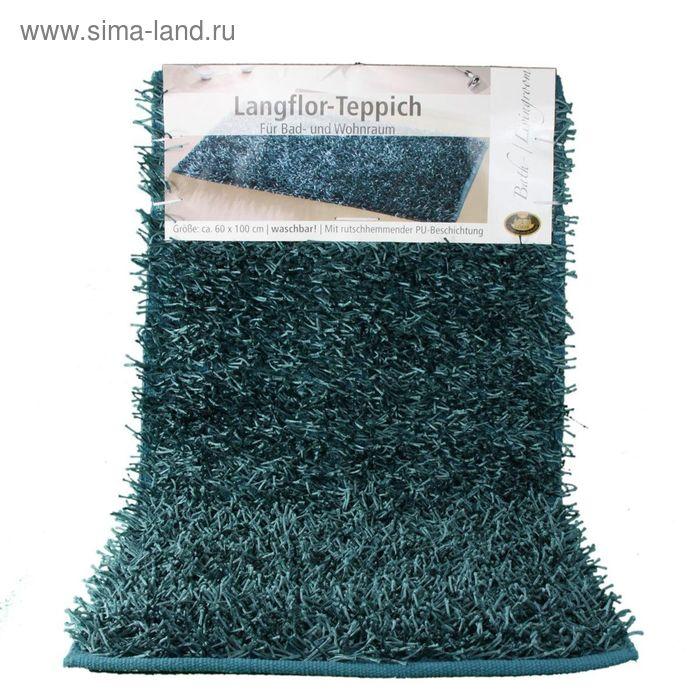 Коврик Langflor-Teppich in Metallic-Optik, размер 60х100 см, цвет морской волны