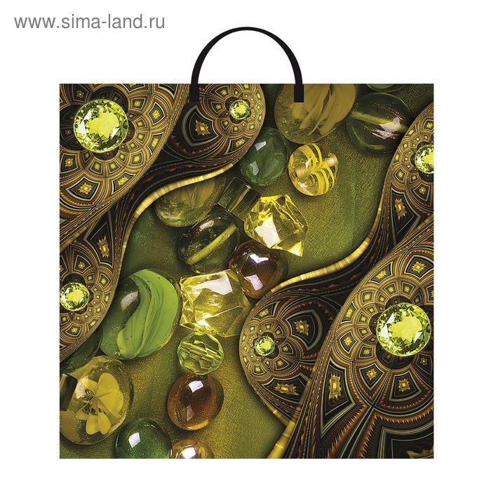 """Пакет """"Самоцветы"""", полиэтиленовый с пластиковой ручкой, 36х37 см, 100 мкм"""