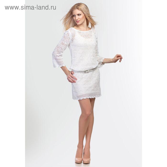 Платье женское 2113, цвет белый, рост 168-170, размер 44