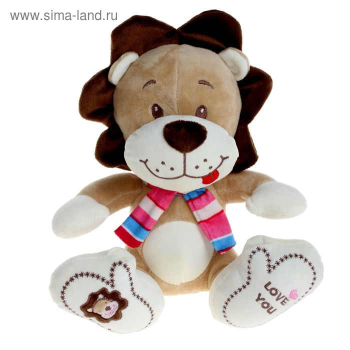Мягкая игрушка «Лев с шарфом»