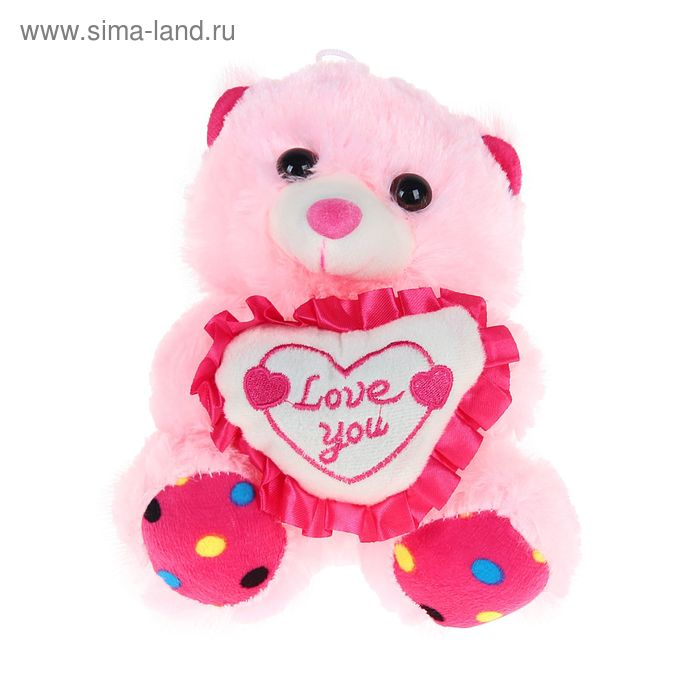 """Мягкая игрушка """"Медведь с сердцем"""", цвета МИКС"""
