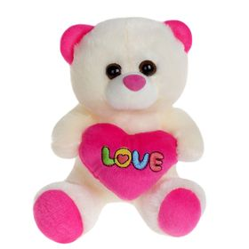 Мягкая игрушка «Звери с сердцем», цвета МИКС