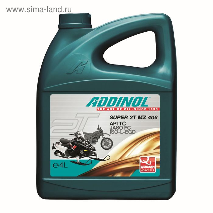 Моторное масло ADDINOL Super 2T MZ 406, 4 л