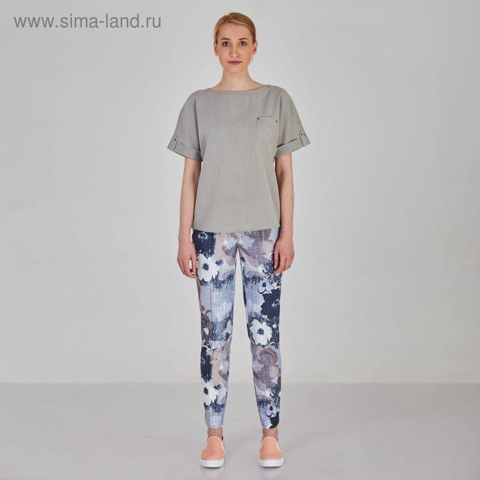 Блуза женская, цвет серый, размер 50, рост 170 см (арт. Y1214-0088 С+ new)