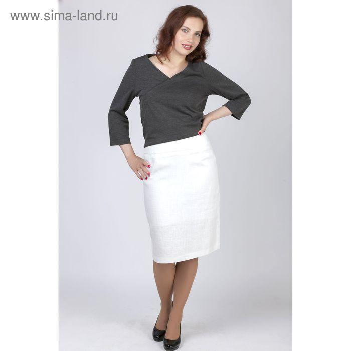 Юбка женская, цвет белый, размер 58, рост 170 см (арт. Y6062-0079 С+ new)