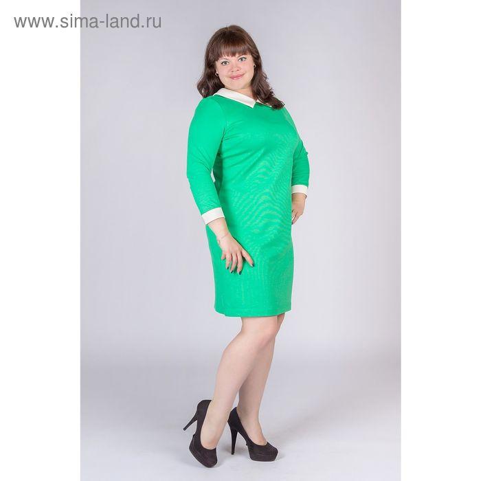 Платье женское, цвет зелёный, размер 52, рост 170 см (арт. Y0225-0111 С+ new)
