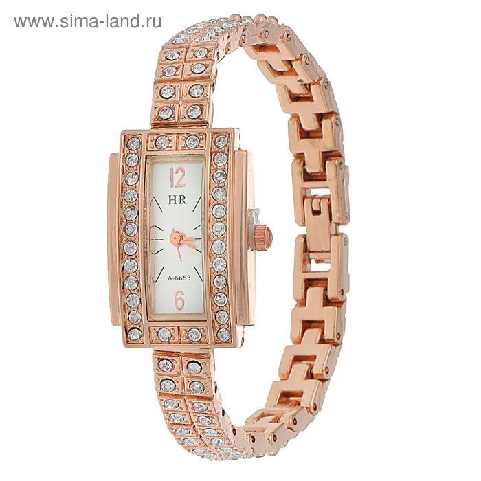 Часы наручные женские, вытянутой формы, браслет металл, стразы