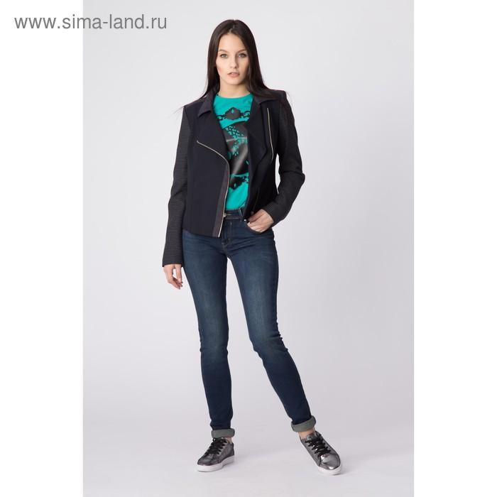 Жакет женский, цвет тёмно-синий, размер 52, рост 170 см (арт. Y4365-0056 С+)