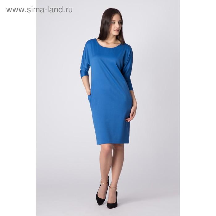 Платье женское, цвет голубой, размер 52, рост 170 см (арт. Y2008-0054 С+ new)