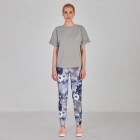 Блуза женская Y1214-0088 new, цвет серый, размер42/170
