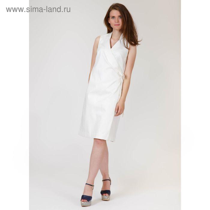 Платье женское, цвет молочный жаккард, размер 52, рост 170 см (арт. Y9823-0117 С+)