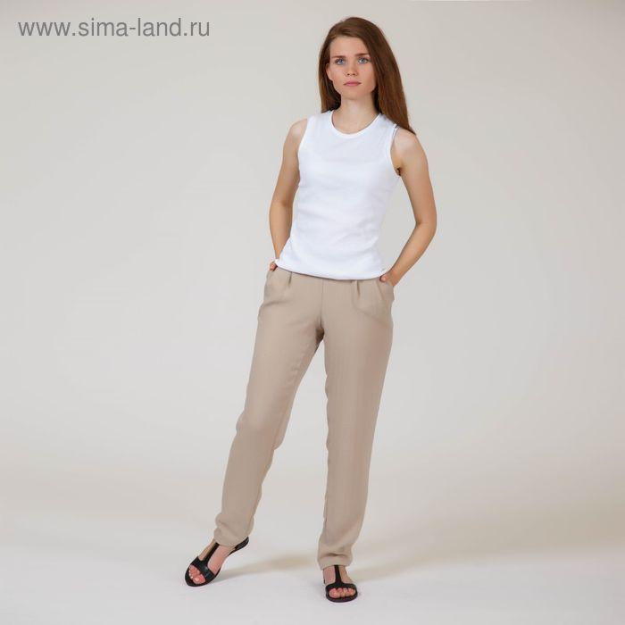 Брюки женские Y6022-0132, цвет бежевый, размер44/170