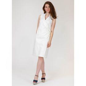 Платье женское, цвет молочный жаккард, размер 56, рост 170 см (арт. Y9823-0117 С+)