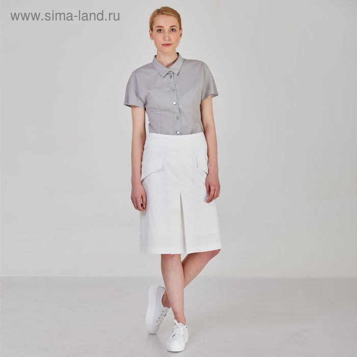 Блуза женская, цвет серый, размер 58, рост 170 см (арт. Y1213-0063 С+ new)