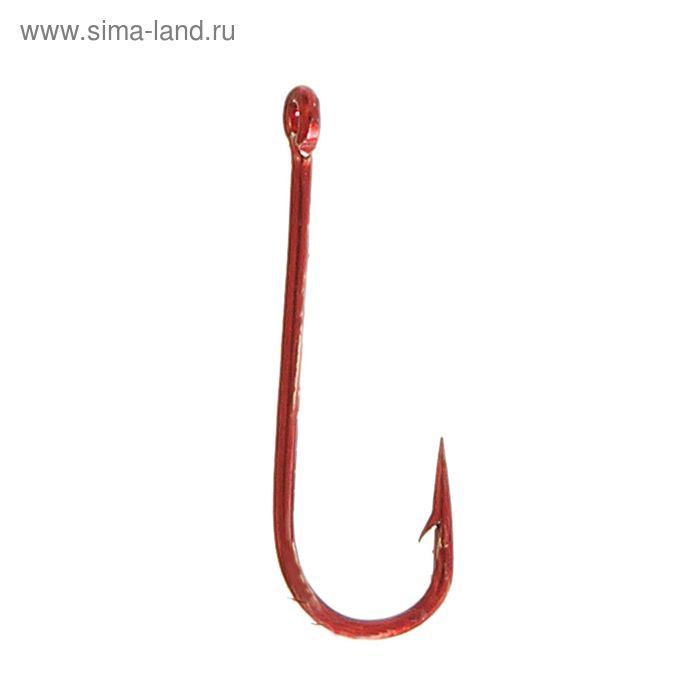 """Крючки """"Волжанка"""" Round № 16, цвет красные (набор 10шт)"""
