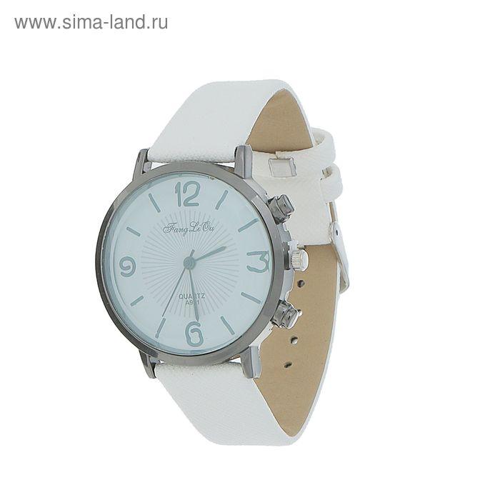 Часы наручные жен ХianВeir, 4  цифры, затемнен стекло, ремешок тиснение бел