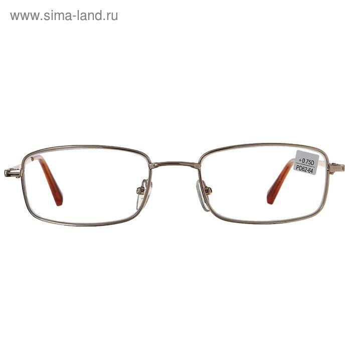 """Очки """"Прямоугольные"""", линза стеклянная, цвет золото, +0,75 дптр, 62-64 мм"""