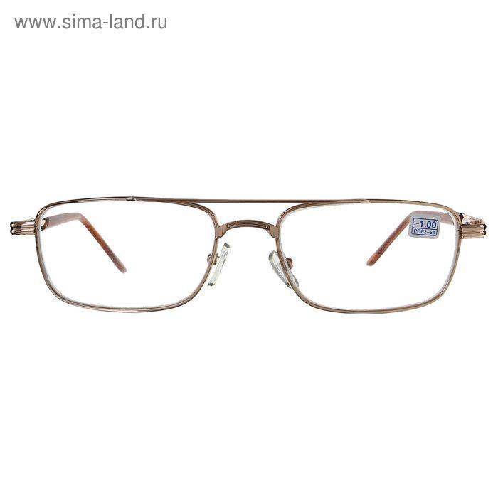 """Очки """"Бабочки"""", линза стеклянная, цвет золото, -1 дптр, 62-64 мм"""