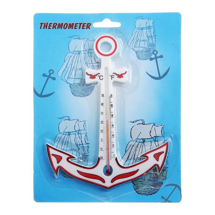 Термометр спиртовой «Якорь», 13 × 17 см, красный
