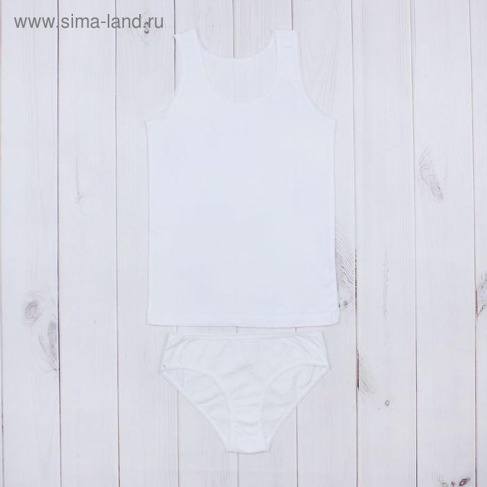 """Гарнитур для девочки """"Белая"""", рост 146 см (76), цвет белый ДНГ562001"""