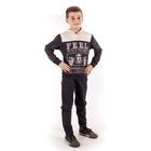 """Джемпер для мальчика """"Волчья стая"""", рост 116 см (60), цвет тёмно-серый/бежевый (арт. ПДД578258_Д)"""