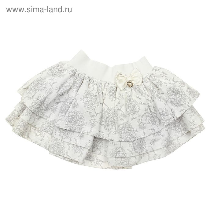 Юбка для девочки, рост 92 см (52), цвет ванильный (арт. ZBG 20114-S1)