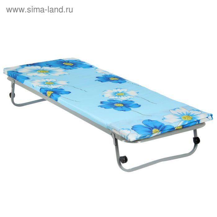 """Кровать раскладная 190х80 см """"Гость"""", сетка квадратное звено, матрас полиэстр 4 см, в чехле"""