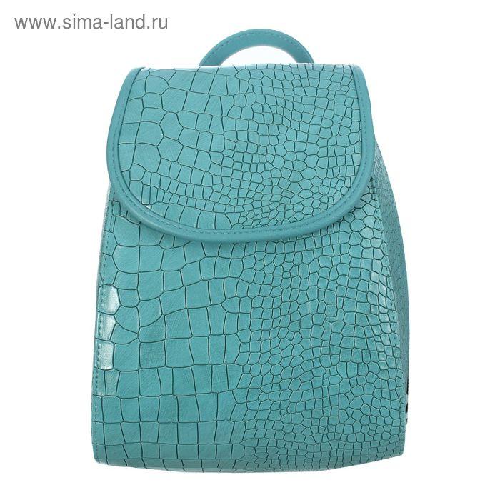 Рюкзак молодёжный на молнии, 1 отдел, цвет бирюзовый