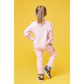 Брюки для девочки, рост 92 см (52), цвет розовый (арт. ZG 10217-P1)