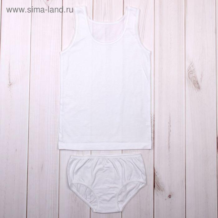 """Гарнитур для девочки """"Малышка"""", рост 110 см (56), цвет белый ДНГ684001"""