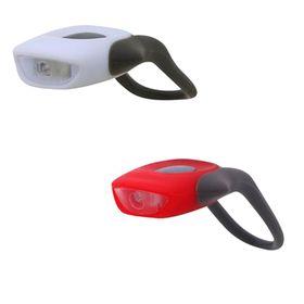 Комплект велофонарей STG JY-267-С, силикон, 1 белый и 1 красный диод, 3 функции Ош