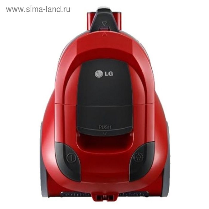 Пылесос LG VK69401N, 2000 Вт, мощность всасывания 350 Вт, 1.2 л, красный