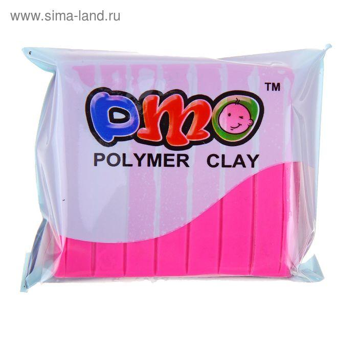 """Полимерная глина 50гр """"PMO"""" Люминесцентный(светится в темноте) Фуксия SH-101"""