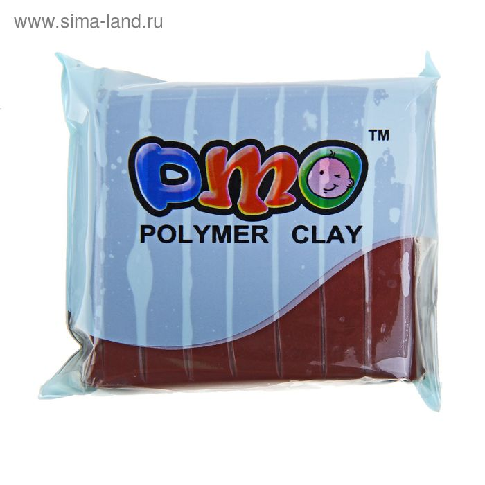 "Полимерная глина 50гр ""PMO"" Бурый SH-01"