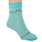 Носки женские, размер 25, цвет светло-бирюзовый АС130