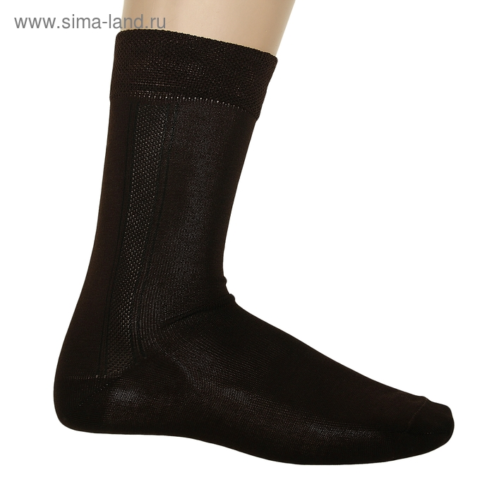 Носки мужские, размер 25, цвет шоколад АС66 М