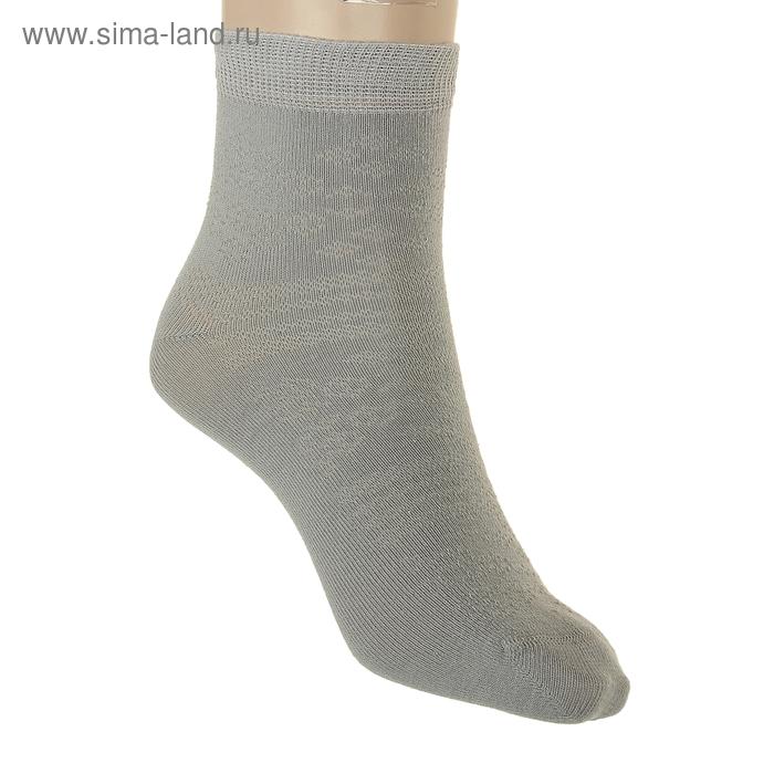 Носки детские, размер 18-20, цвет светло-серый АС151