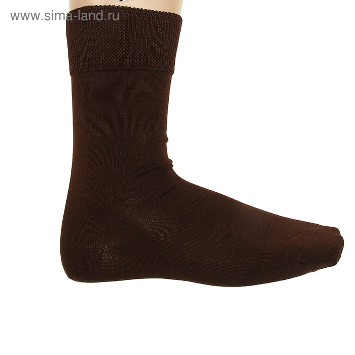 Носки мужские, размер 25, цвет тёмно-коричневый ФС116