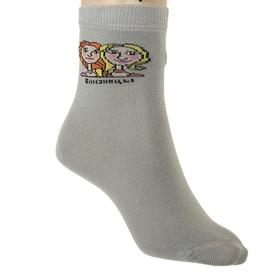 """Носки детские """"Близнецы"""", размер 18-20, цвет светло-серый НД4"""