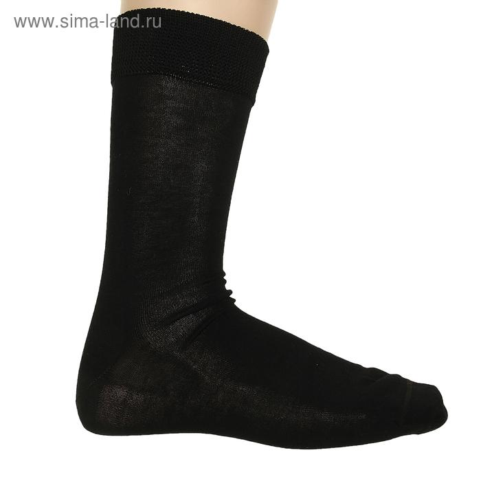 Носки мужские, размер 25, цвет чёрный ФС26