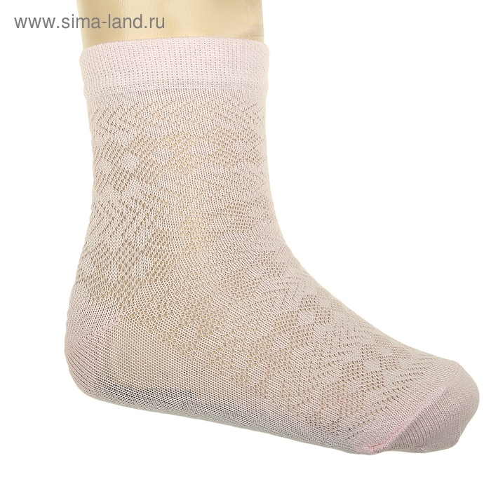 Носки детские, размер 16-18, цвет светло-розовый АС56