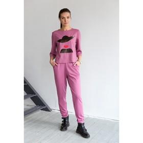 Блуза, размер 48, рост 164 см, цвет цикламен (4849а)