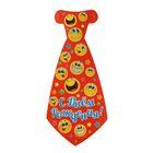 """Карнавальный галстук """"С днём рождения! Смайлы"""" на резиночке"""