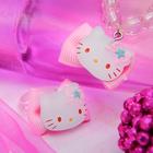 """Набор 2 предмета: браслет, кольцо """"Китти"""", цвет розовый"""