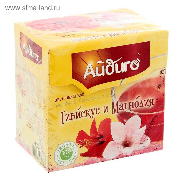 Чай травяной Айдиго Гибискус и магнолия, 10 пак*6 гр